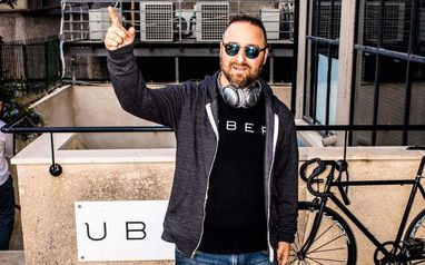 Hillel Fuld at Uber office